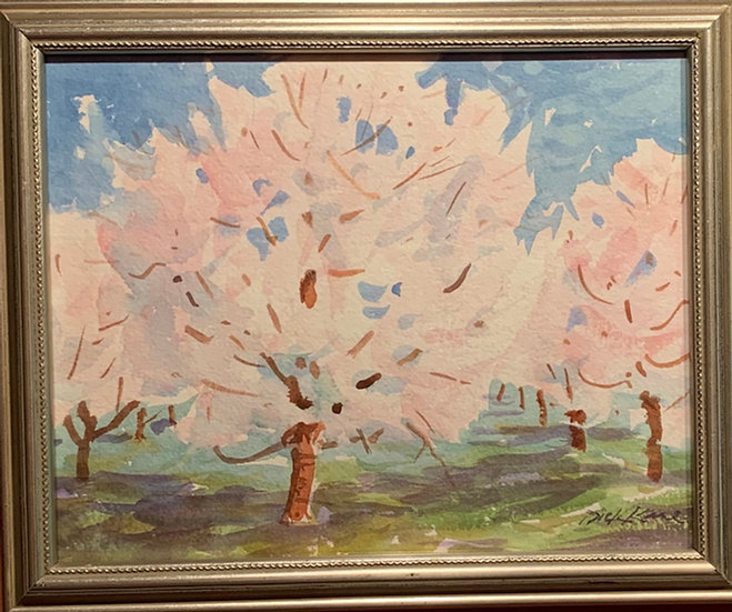Apple Blossom Tree 11 x 9