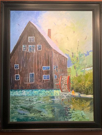 """""""The Old Mill"""" Avon, NY  45 x 36"""