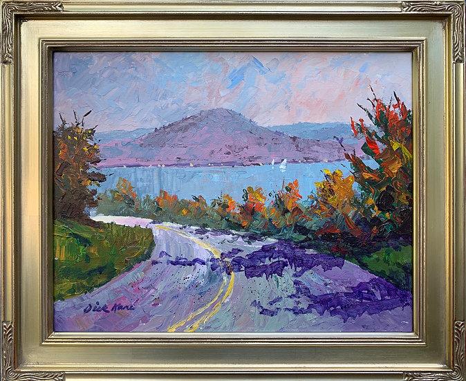 "Bare Hill, Canandaigua Lake- 17"" x 14"""