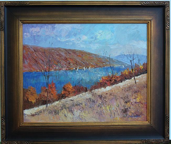 "October, Canandaigua Lake -26""x22"""