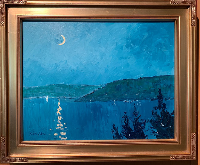 Moonlight Over Keuka Lake  17x14