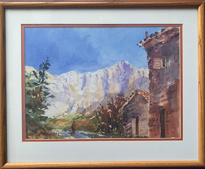 "Cezanne's White Mountain- 20"" x 17"""