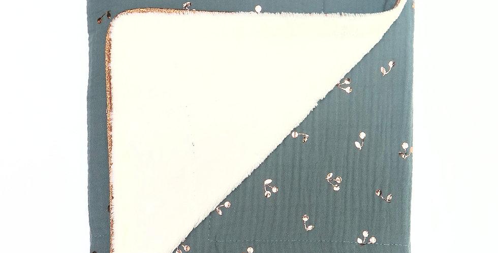Couverture Cerises Bleu Canard