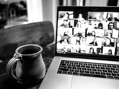 Social Media Content workshop on laptop