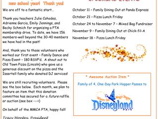 PTA October News