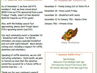 PTA's November Newsletter