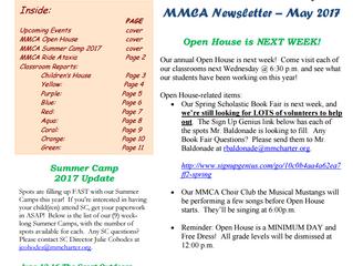 May 2017 MMCA Newsletter