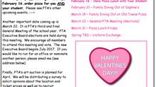 PTA Newsletter - February Edition