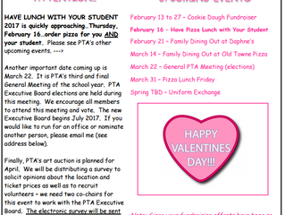 PTA Newsletter - February Edition