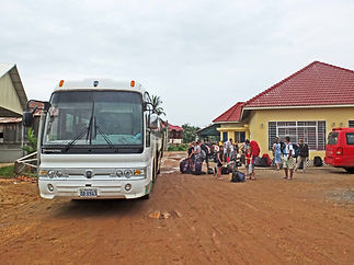 Family travel: the bus to Laos from Cambodia