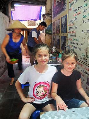 Family travel: eating Bun Cha in Hanoi, Vietnam