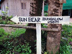 Family travel: sign, Cardamom Mountains, Cambodia