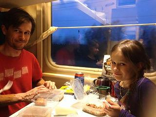 Family travel: dinner on the trans-Siberian railway