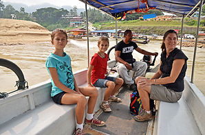 Family travel: catching the ferry at Taman Negara National Park, Malaysia