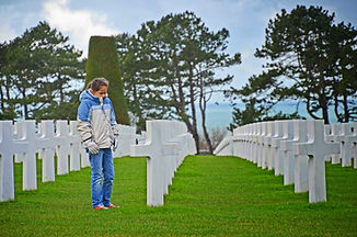 Family travel: Ameican Cemetry, Normandy