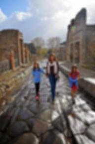 Family travel: at Pompeii