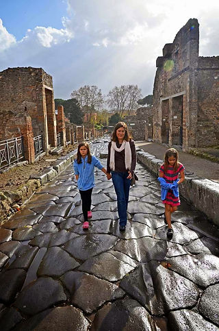 Family travel: at Pompeii