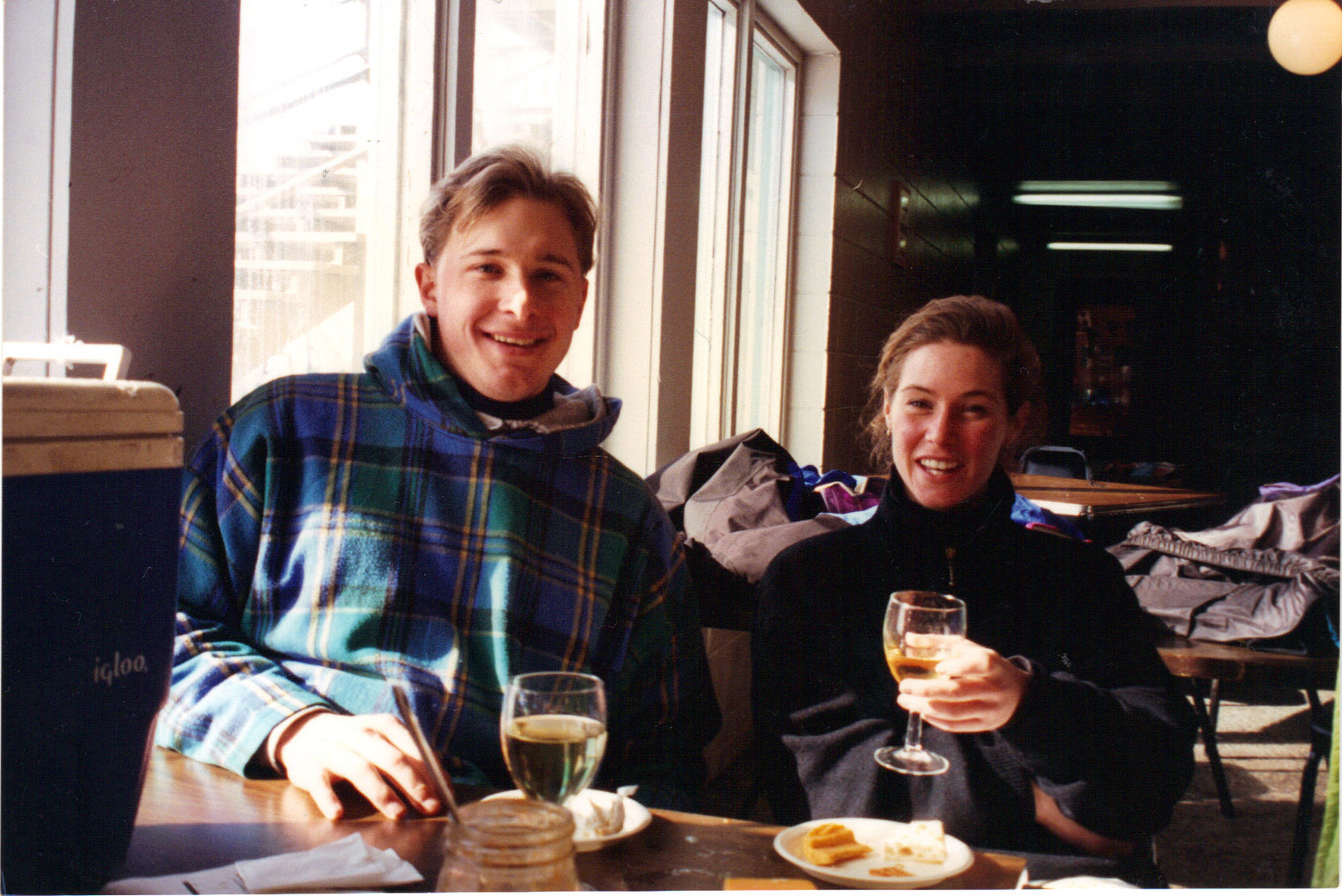 Jeremy Wilken & myself - skiing Lutsen M
