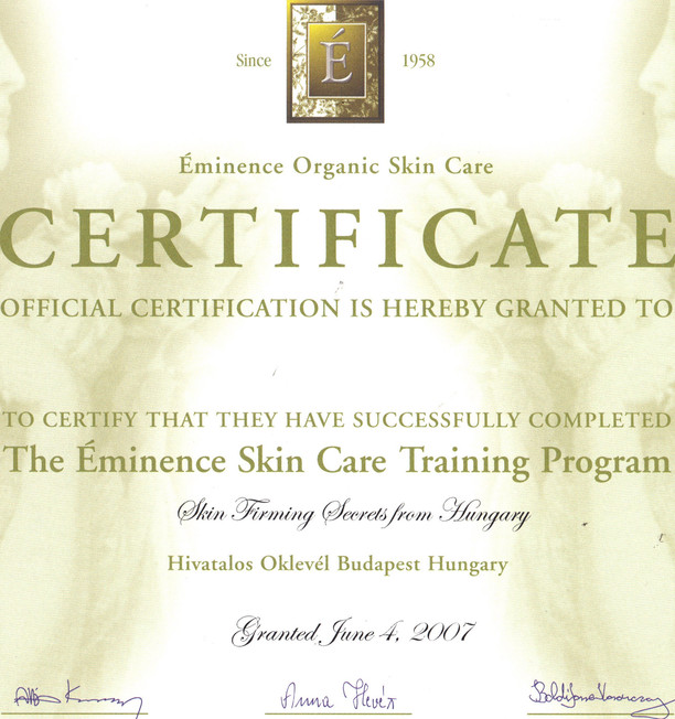 SY - Eminence Products Certificate (2) .
