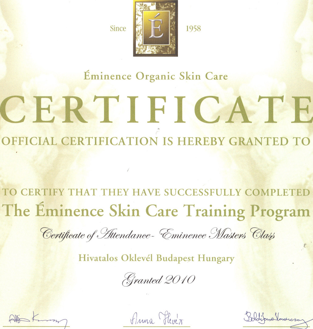 SY - Eminence Products Certificate (3) .