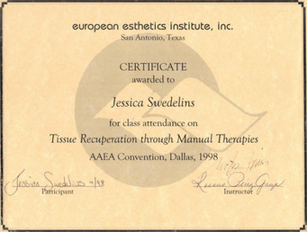 SY - Tissue Recuperation Certificate - P