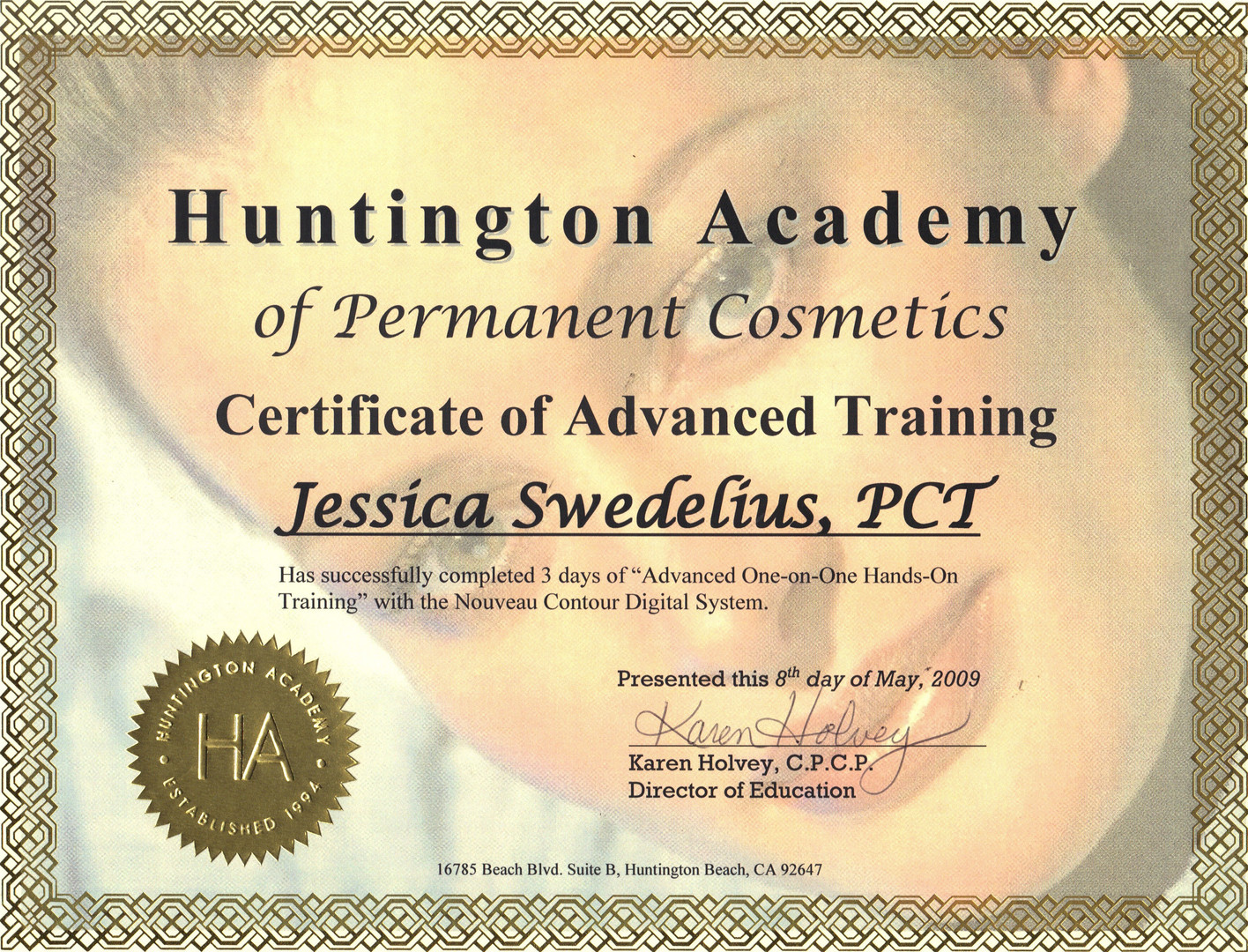 SY - Huntington Academy Perm Make Up Cer