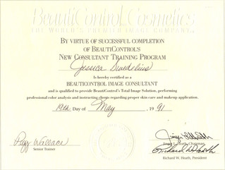 SY - Beauty Control Products Certificate