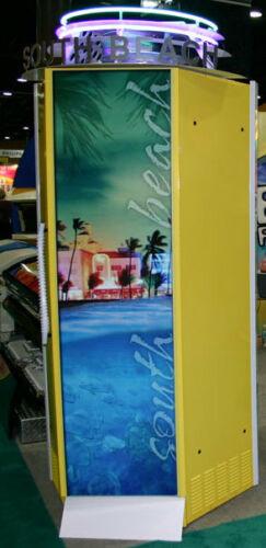 South Beach standup suntan bed - yellow