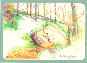 Pasty Greenwell - The Giving Rock.JPG