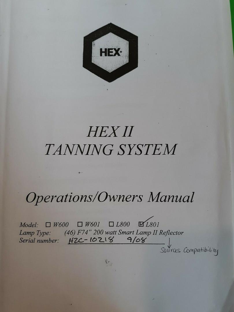 Hex Standup suntan bed - manual cover pa