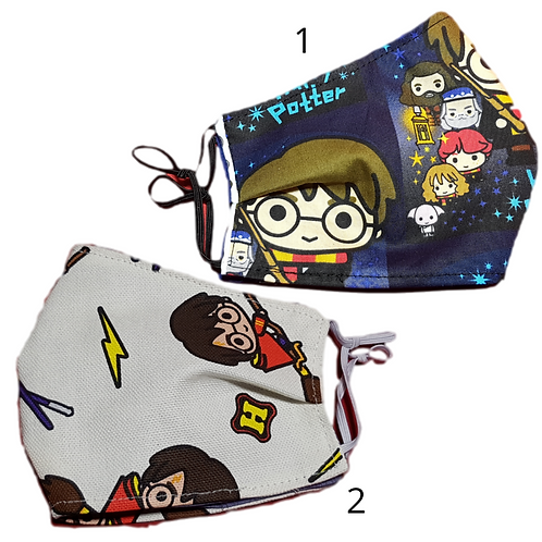Harry Potter 5 Sizes Handmade Cotton Washable Face Mask with Pocket Free Filter