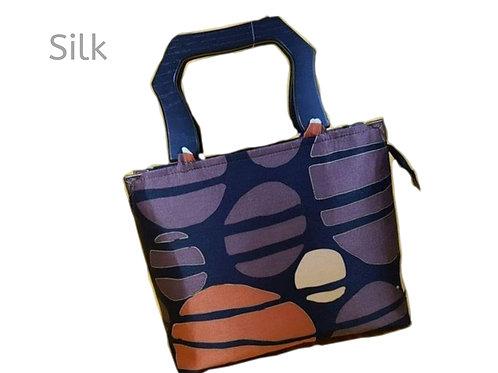 Women Fashion Handbag Tote Bag Messenger Silk Satin Luxury Bag Red Moon Wooden