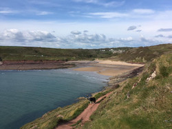 Manorbier Beach with Castle