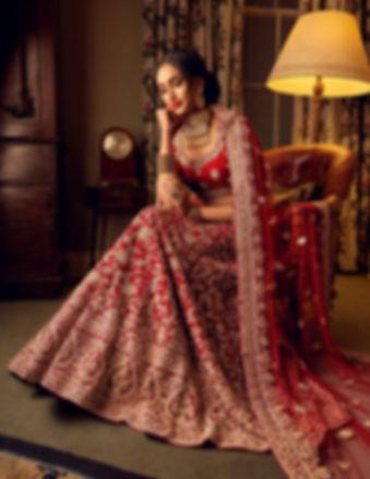 maroon bridal lehenga indian pakistani
