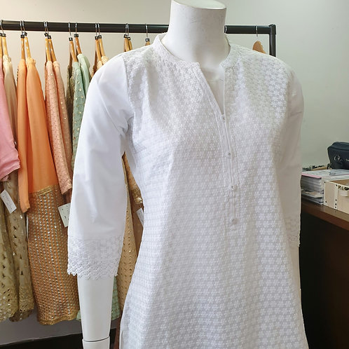 White Cotton Kurta CB2