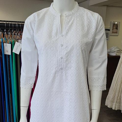 White Cotton Kurta CB3