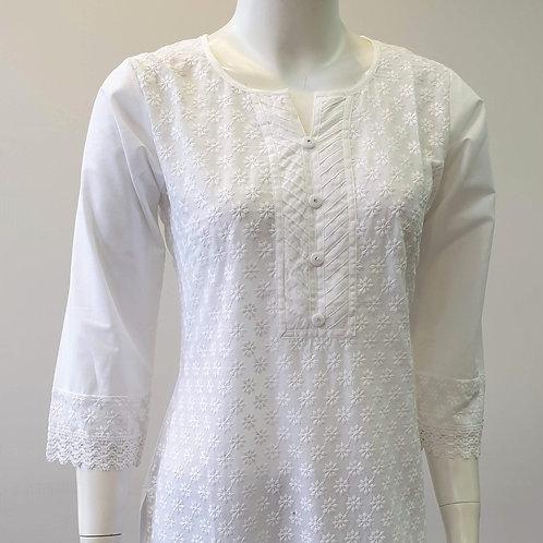 White Buttoned Kurta