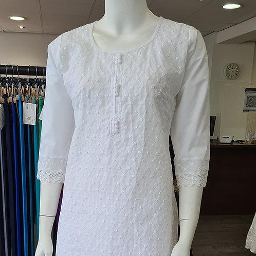 White Cotton Kurta MK1