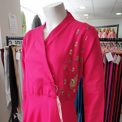 Pink Angrakha Kurta