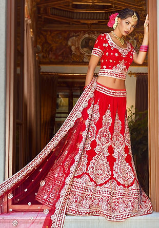 red bridal lehenga velvet indian pakistani