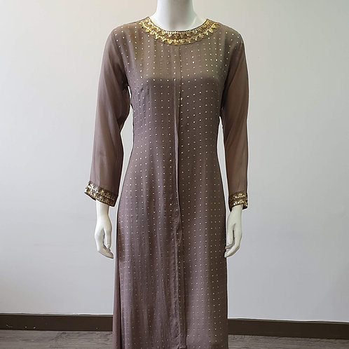 Grey Chiffon Dress