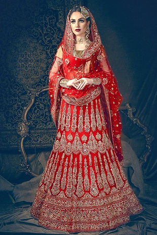 red bridal lehenga indian pakistani