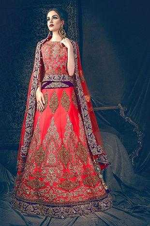 red purple bridal lehenga indian pakistani