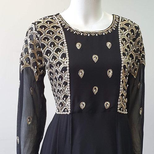 Black Cape Sleeve Dress