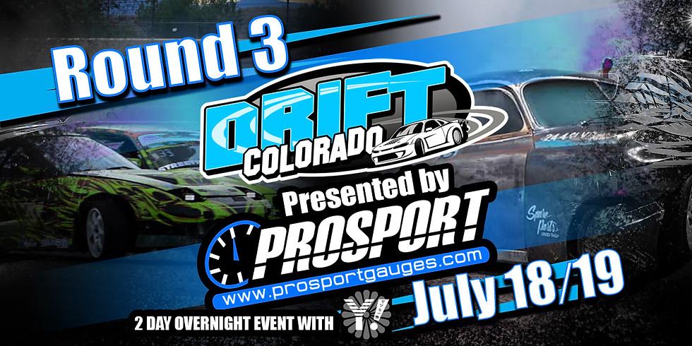 Round 3 of Prosport Gauges Drift Colorado Championship