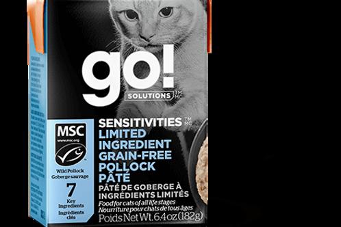 PETCUREAN GO! - Tetra Pak Ingrédients Limités Sans Grains Pâté Goberge 182g