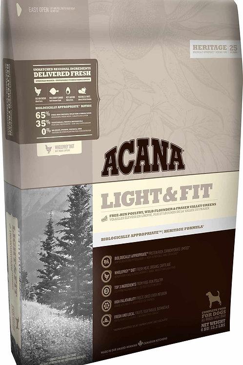 ACANA - Heritage Sans Grains Light & Fit 25lbs