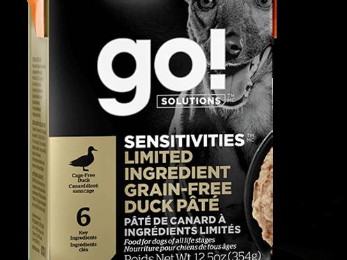 PETCUREAN GO! - Tetra Pak Ingrédients Limités Sans Grains Pâté Canard 354g