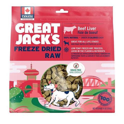 GREAT JACK'S - Friandises Lyophilisées Foie de Boeuf (7oz)