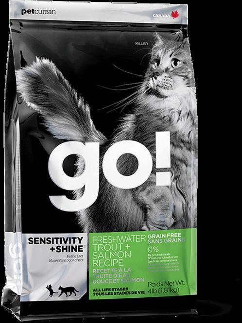 PETCUREAN GO! - Sensi + Shine Sans Grains Truite et Saumon 16lbs
